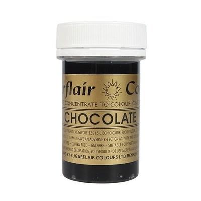 Sugarflair Paste Colours -CHOCOLATE -Χρώμα σε Πάστα -Σοκολάτα 25γρ