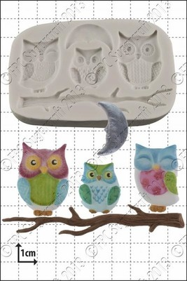 FPC Silicone Mould -OWL FAMILY -Καλούπι Σιλικόνης Οικογένεια Κουκουβάγια
