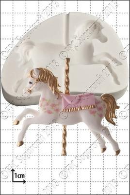 FPC Silicone Mould -CAROUSEL HORSE -Καλούπι Αλογάκι Καρουζέλ