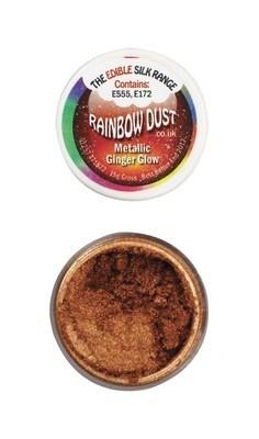 Rainbow Dust Edible Dust -Metallic GINGER GLOW -Βρώσιμη Σκόνη Μεταλλική Χρώμα Κόκκινης Πιπερόριζας