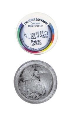 Rainbow Dust Edible Dust -Metallic LIGHT SILVER -Βρώσιμη Σκόνη Μεταλλική Φωτεινό Ασημί