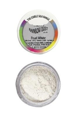 Rainbow Dust Edible Dust -Pearl WHITE -Βρώσιμη Σκόνη Περλέ Λεύκο