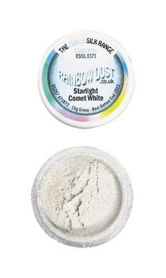 Rainbow Dust Edible Dust -Shimmer COMET WHITE -Βρώσιμη Σκόνη Γυαλιστερή Λευκός Κομήτης
