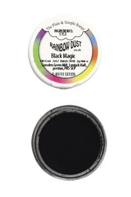 Rainbow Dust Edible Dust -Matt BLACK MAGIC -Βρώσιμη Σκόνη Ματ Μαύρο