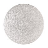 "Cake Drum ROUND Silver 25cm (10"") - Ασημένια Στρογγυλή Βάση 25εκ - Πάχος 1,3εκ"