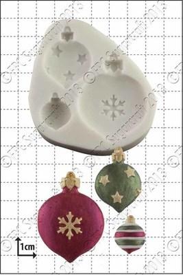 FPC Silicone Mould -CHRISTMAS BAUBLES -Καλούπι Σιλικόνης  Χριστουγεννιάτικες Μπάλες