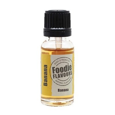 Foodie Flavours Natural BANANA Flavouring -Φυσικό Άρωμα με Γεύση Μπανάνα 15ml ∞