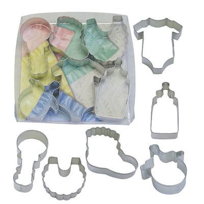By AH -Set of 6 Cookie Cutters -BABY - Σετ 6 κουπ πατ Μωρουδίστικα