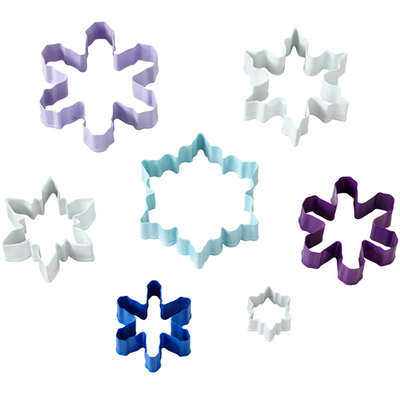 Wilton Christmas Set of 7 Cutters SNOWFLAKE -Σετ 7τεμ Κουπ πατ Χιονονιφάδες
