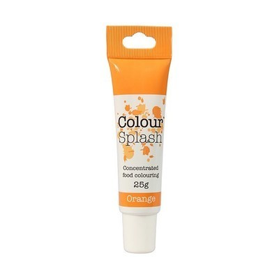 Colour Splash GEL -ORANGE -Χρώμα Πάστας -Πορτοκαλί 25γρ