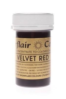 Sugarflair Paste Colours -VELVET RED -Χρώμα σε Πάστα -Βαθύ Κόκκινο 25γρ