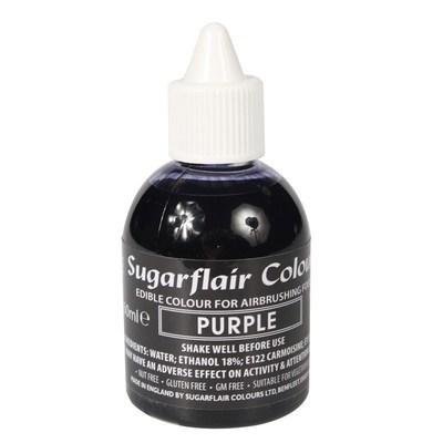 Sugarflair Airbrush Colour -MATT PURPLE  -Χρώμα Αερογράφου Ματ Μωβ 60ml