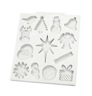 Katy Sue Silicone Mould -CHRISTMAS EMBELLISHMENTS -Καλούπι Σιλικόνης Χριστουγεννιάτικα Διακοσμητικά