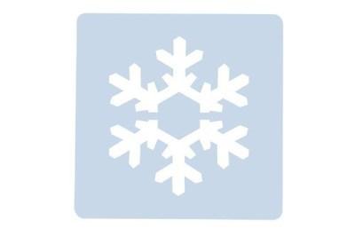 SALE!!! Culpitt Stencil -SNOWFLAKE -Στένσιλ Χιονονιφάδα