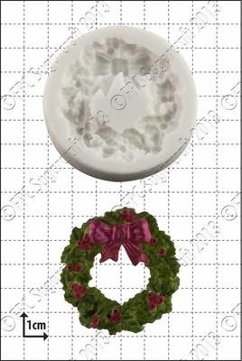 FPC Silicone Mould -HOLLY WREATH -Καλούπι Σιλικόνης Γιορτινό Στεφάνι