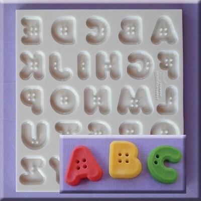 SALE!!! Alphabet Moulds -BUTTON FONT -Καλούπι Αλφάβητος Κουμπάκια
