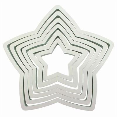 PME Geometric Basics -Set of 6 -STARS -Σετ 6τεμ κουπ πατ Πλαστικά Βασική Σειρά Αστέρια
