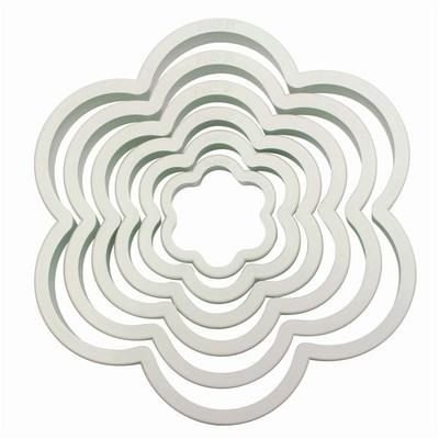 PME Basics -Set of 6 -BLOSSOM Cutters -Σετ 6τεμ Βασική Σειρά πλαστικά Κουπ πατ Άνθοι/Λουλούδια