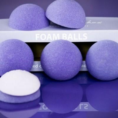 Purple Cupcakes Foam Halves for Domed Cupcakes - Μπάλες Αφρολέξ για Κάπκεϊκς με Θόλο 6 τεμ