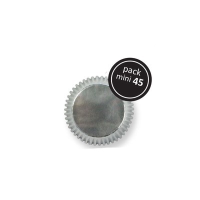 PME Cupcake Cases -MINI SILVER  -Ασημένιες Μίνι Θήκες Ψησίματος - 45τεμ - 3.2x2.3εκ