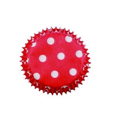 PME Cupcake Cases -MINI RED POLKA DOT -Κόκκινες Πουά Μίνι Θήκες Ψησίματος 100τεμ ∞