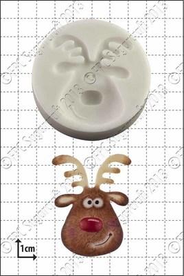 FPC Silicone Mould -REINDEER HEAD -Καλούπι Σιλικόνης Κεφάλι Τάρανδου