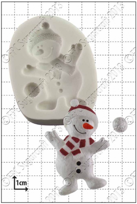 SALE!!! FPC Silicone Mould -DANCING SNOWMAN -Καλούπι Σιλικόνης Χιονάνθρωπος που Χορεύει