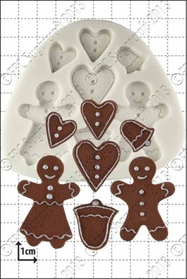 SALE!!! FPC -Silicone Mould -GINGERBREAD PEOPLE -Καλούπι Σιλικόνης Μπισκοτένια Ανθρωπάκια