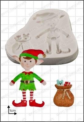 FPC Silicone Mould -XMAS ELF -Καλούπι Σιλικόνης Χριστουγεννιάτικο Ξωτικό