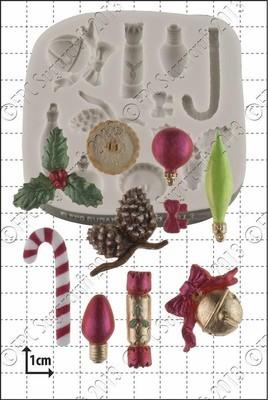 FPC Silicone Mould -CHRISTMAS MINI DECORATIONS - Καλούπι Σιλικόνης Μικρά Χριστουγεννιάτικα Στολίδια