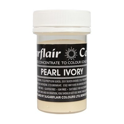 Sugarflair Paste Colours -PEARL IVORY -Χρώμα σε Πάστα -Ιβουάρ Περλέ 25γρ