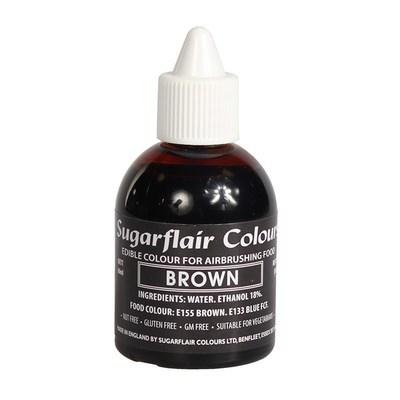Sugarflair Airbrush Colour -MATT BROWN -Χρώμα Αερογράφου Ματ Καφέ 60ml