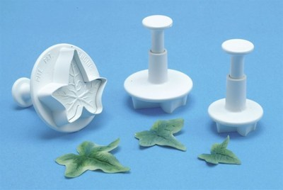 PME Plunger Cutters -Set of 3 -IVY LEAF -Σετ 3τεμ κουπ πατ με Εκβολέα Ανάγλυφο Φύλλο Κισσού