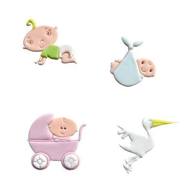 FMM Tappit Cutter Set -ADORABLE BABY - Σετ 4τεμ κουπ πατ Γλυκό Μωράκι
