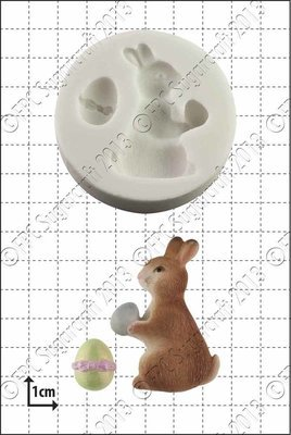 FPC Silicone Mould -EASTER BUNNY -Καλούπι Σιλικόνης  Πασχαλινό Κουνελάκι