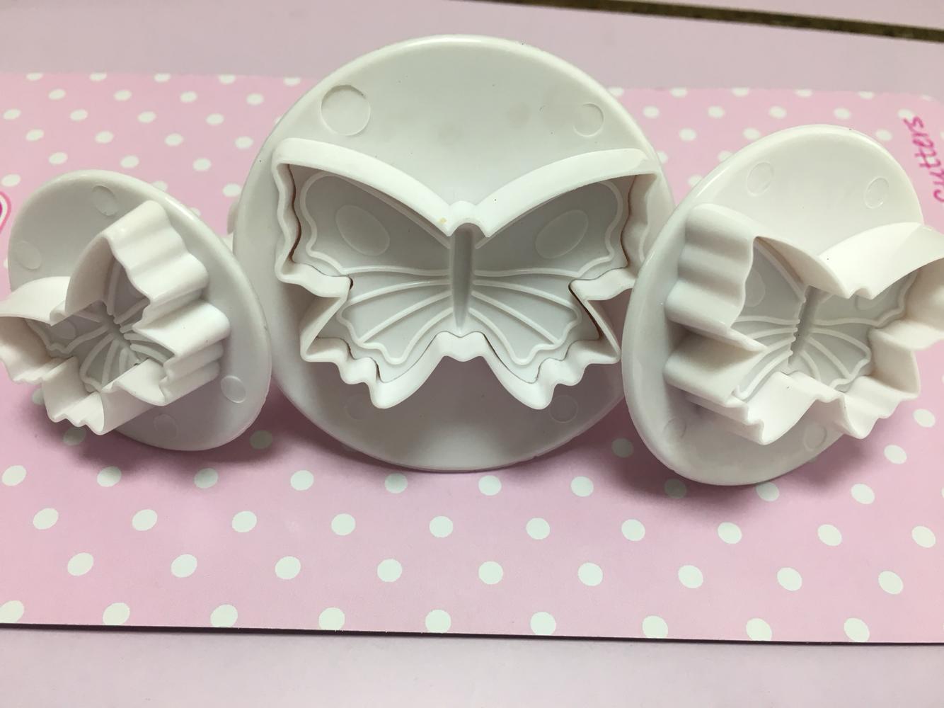 Cake Star Plunger Cutters -BUTTERFLIES - Σετ 3τεμ Kουπ πατ Πεταλούδες με Eκβολέα