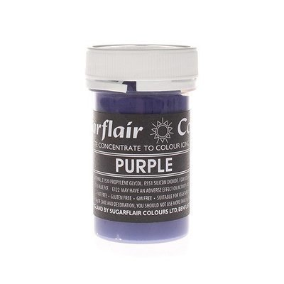 Sugarflair Paste Colours -PURPLE -Χρώμα σε Πάστα -Μωβ 25γρ