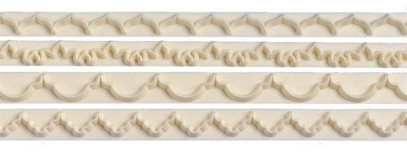 FMM Frill Cutters Set No.1-4 - Σετ 4τεμ κουπ πατ Γιρλάντες Νο 1-4