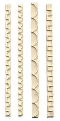 FMM Frill Cutters Set No.9-12 - Σετ 4τεμ κουπ πατ Γιρλάντες Νο 9-12