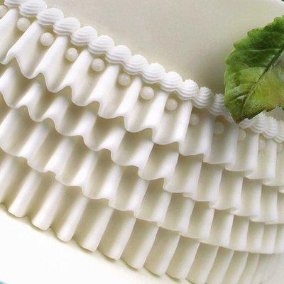 Katy Sue Silicone Mould by Ceri Griffiths -RUFFLE-MEDIUM -Καλούπι Σιλικόνης  Μεσαία Σούφρα