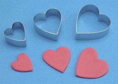SALE!!! PME Geometric Cutters -Set of 3 -ARUM LILY (HEART)- Σετ 3τεμ Κουπ πατ Καρδιά/Κρίνος