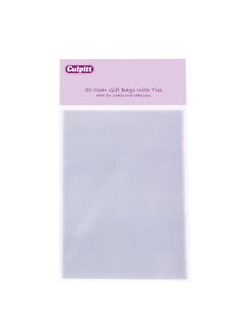 Culpitt Bags -Clear with Ties -SMALL - 50τεμ Μικρά Διάφανα Σακουλάκια με Σύρμα 10x15εκ