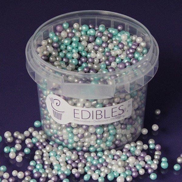 Purple Cupcakes Sugarballs -FROZEN 4mm -Βρώσιμες Πέρλες Φρόζεν 4χιλ, 80γρ