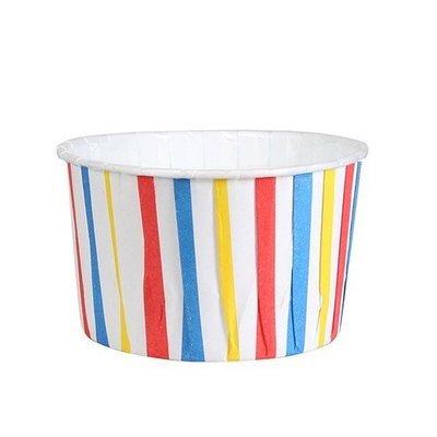 Culpitt Cupcake Baking Cups -STRIPED BLUE, RED & YELLOW -Κυπελάκια Ψησίματος Ριγέ, Μπλε, Κόκκινο και Κίτρινο 24 τεμ