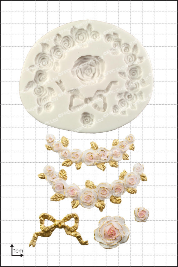 FPC Silicone Mould -ROSE SWAGS -Καλούπι Σιλικόνης Γιρλάντα από Τριαντάφυλλα