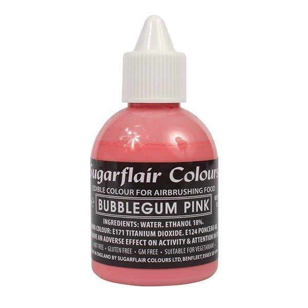 Sugarflair Airbrush Colour -MATT BUBBLEGUM PINK -Χρώμα Αερογράφου Ματ Ροζ Τσιχλόφουσκα 60ml
