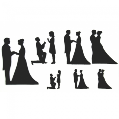 Patchwork Cutters -WEDDING SILHOUETTE SET -Κουπ πατ Γαμήλιες Σιλουέτες