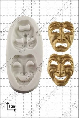 FPC Silicone Mould -COMEDY & TRAGEDY MASKS -Καλούπι Μάσκες