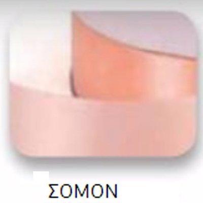 Ribbons - 3.5mm Satin Ribbon Peach Double Faced 100m - Κορδέλα Σατέν Διπλής Όψης Σομόν/Ροδακινί