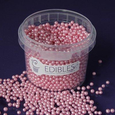 Purple Cupcakes Sugarballs -PINK CANDY SHIMMER 4mm -Βρώσιμες Πέρλες Ροζ Γυαλιστερές 4χιλ, 80γρ